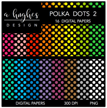 Digital Paper Set: Polka Dots 2 {Graphics for Commercial Use}