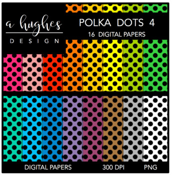 Digital Paper Set: Polka Dots 4 {Graphics for Commercial Use}