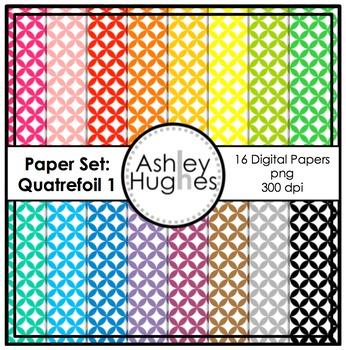 12x12 Digital Paper Set: Quatrefoil 1 {A Hughes Design}