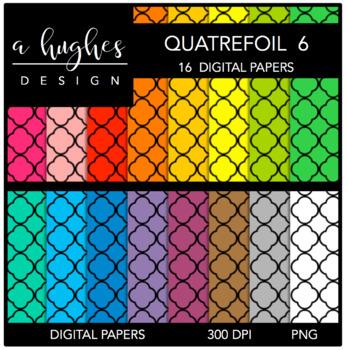12x12 Digital Paper Set: Quatrefoil 6 {A Hughes Design}