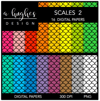 12x12 Digital Paper Set: Scales 2 {A Hughes Design}