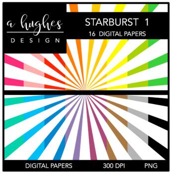 12x12 Digital Paper Set: Starburst 1 {A Hughes Design}