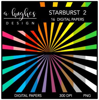 12x12 Digital Paper Set: Starburst 2 {A Hughes Design}