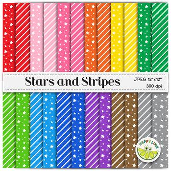 Digital Paper Set - Stars and Stripes