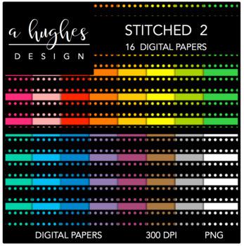 12x12 Digital Paper Set: Stitched 2 {A Hughes Design}