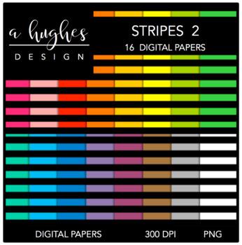 12x12 Digital Paper Set: Stripes 2 {A Hughes Design}