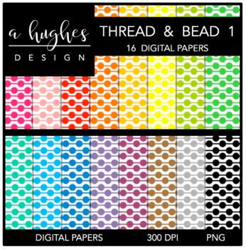 12x12 Digital Paper Set: Thread & Bead 1 {A Hughes Design}