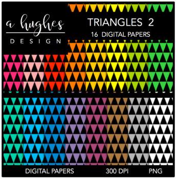 12x12 Digital Paper Set: Triangles 2 {A Hughes Design}