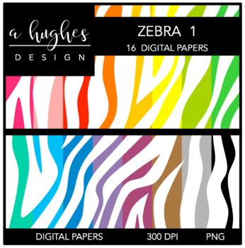 12x12 Digital Paper Set: Zebra 1 {A Hughes Design}