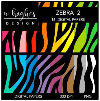12x12 Digital Paper Set: Zebra 2 {A Hughes Design}