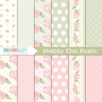 Digital Paper - Shabby Chic Rose (rustic)