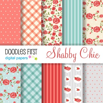 Digital Paper - Shabby Chic great for Classroom art projects