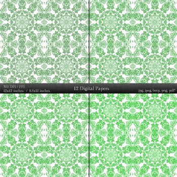 Digital Paper Sheet Embellishment Ornate Jpg Book Vintage Pattern Scrap Booking