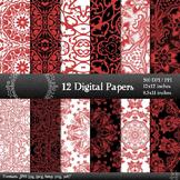 Digital Paper Sheet Fabric Textile Set Page Piecing Patter