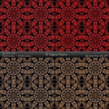 Digital Paper Sheet Scrap Book Background Book  12 X 12 + 8.5 X 11 Scrapbook A4