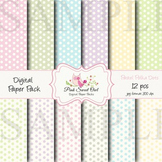 Digital Paper - Small pastel polka dot paper background