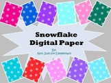 Digital Paper: Snowflake Background for Personal and Commercial Use