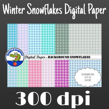 Winter Snowflakes Digital Paper