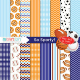 Digital Paper - So Sporty! / FREE sports balls