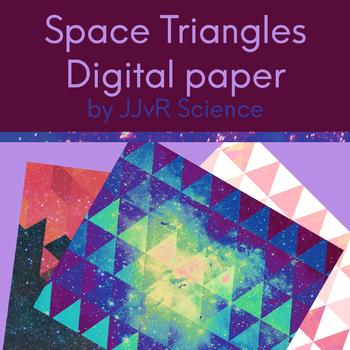 Digital Paper - Space Triangles
