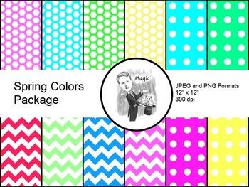 Digital Paper - Spring Designs
