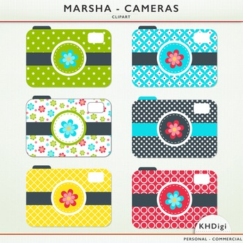 "Clipart Cameras - ""Marsha"" collection"