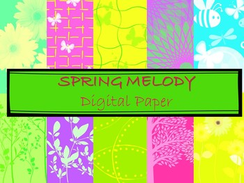 Digital Paper Spring Melody
