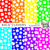 St Patrick Bold Clovers Digital Paper or Backgrounds