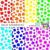 St Patrick Bold Shamrocks Digital Paper or Backgrounds