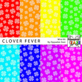 St Patrick Clover Fever Digital Paper or Backgrounds