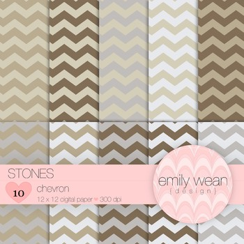 Stones - Digital Paper - Chevron