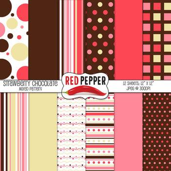 Background Patterns - Strawberry Chocolate