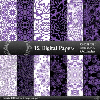 Digital Paper Style Background Scrap Booking Seamless Premade Pattern Jpg Corner