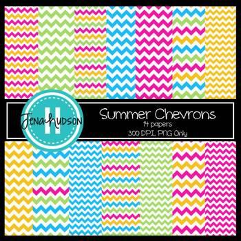 Digital Paper ~ Summer Chevrons