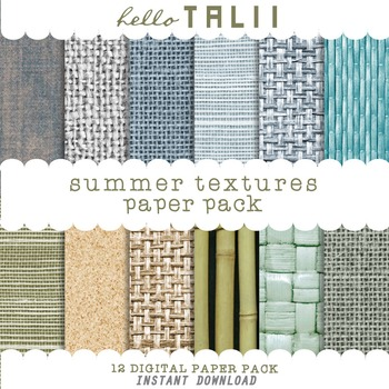 Digital Paper: Summer Textures