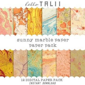 Digital Paper: Sunny Marble Paper