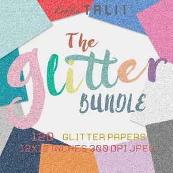 Digital Paper: Super Glitter Paper Bundle