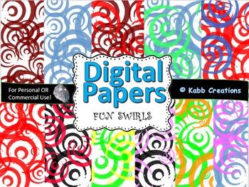 Digital Paper Swirl Designs!