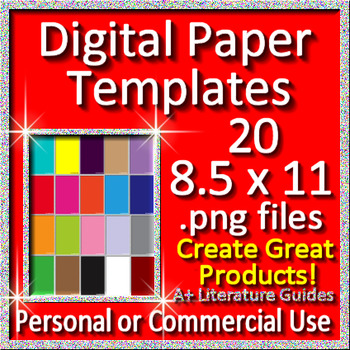 #TpTtech Digital Paper Templates for Google Slides and other Paperless Projects