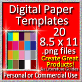 Digital Paper Templates for Google Slides and other Paperless Projects
