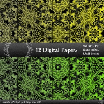 Digital Paper Textile Paper Collag Embroidery Sheet  Decoration Flower Abstract
