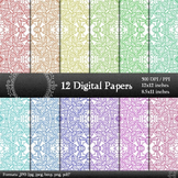 Digital Paper Texture Card Digital Flower Indian Abstract