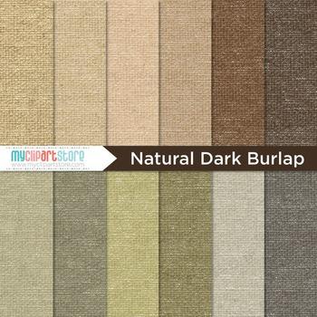 Digital Paper Texture - Dark Burlap Fabric Textures