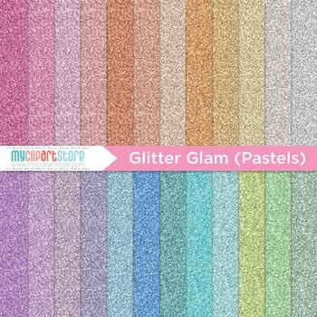 Digital Paper Texture - Glitter Glam Pastels / Fine Glitte