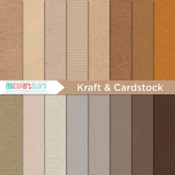 Digital Paper Texture - Kraft Paper / Card Stock