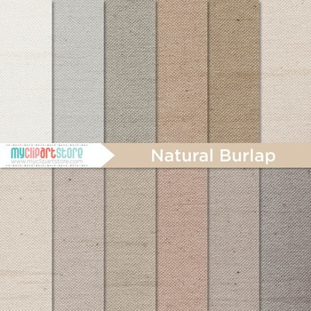 Digital Paper Texture - Natural Burlap Fabric Textures