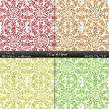 Digital Paper Texture Scrapbook Layout Page Background Sheet Journal Seamless A4