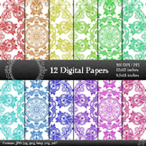 Digital Paper Texture Scrapbook Layout Page Background She