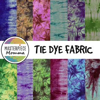 Digital Paper- Tie Dye Fabric