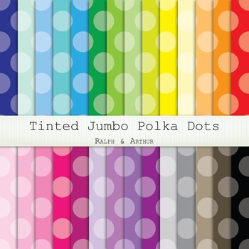 Digital Paper - Tinted Jumbo Polka Dots